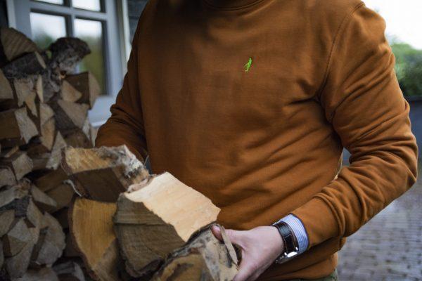 Koedoe & Co jacht trui sweater dark driven orange detail