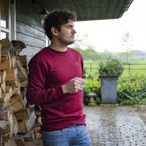 Koedoe & Co Jacht Trui Sweater Grand vin red