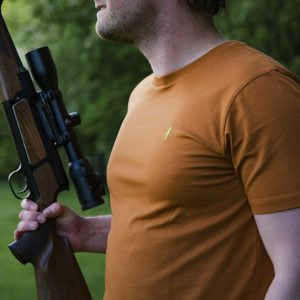 Koedoe & Co Jacht T-shirt drijfjacht Dark Driven Orange detail