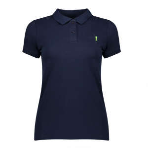 Koedoe & Co polo ladies blue wildebeest front