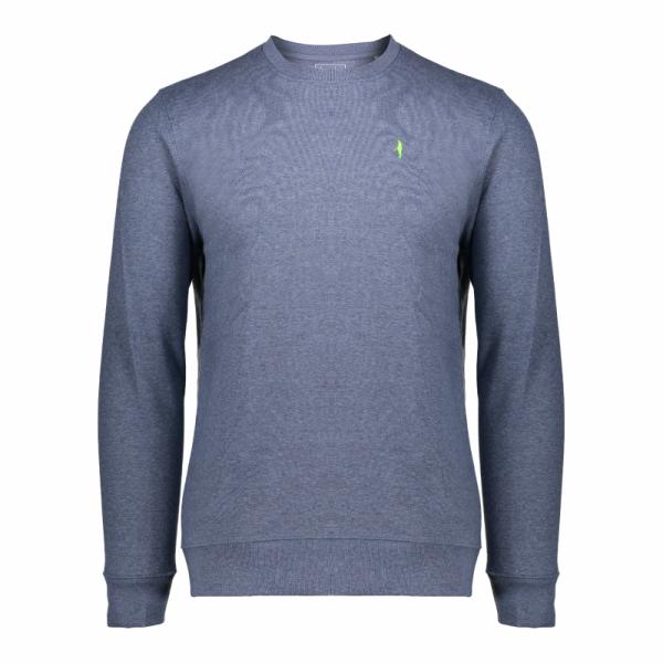 Koedoe & Co sweater men bright blue morning front