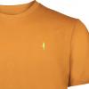 Koedoe & Co tshirt men dark driven orange detail
