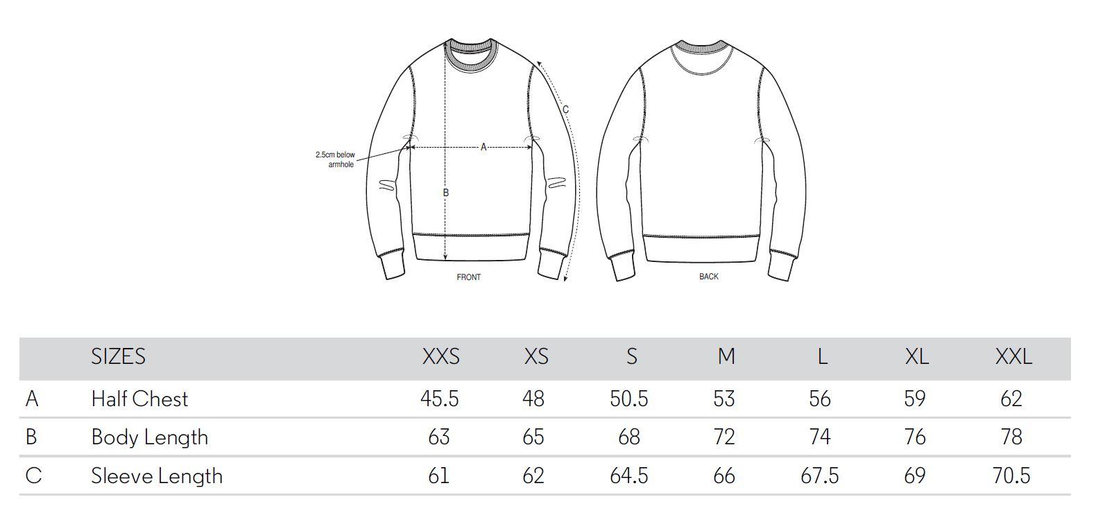 Maattabel Trui Sweater men Koedoe & Co