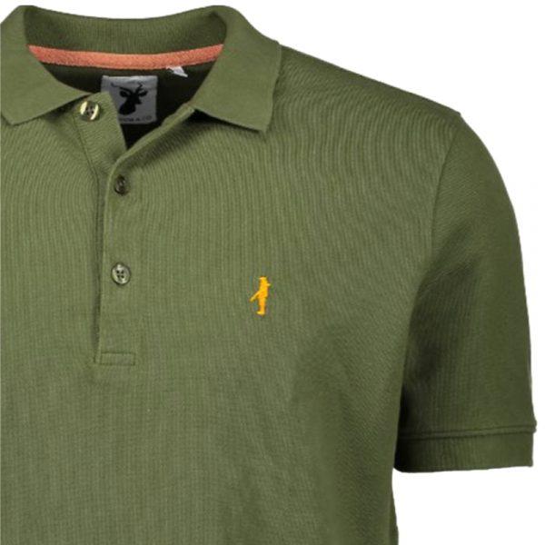 Hunting Polo shirt Koedoe & Co detail zoom