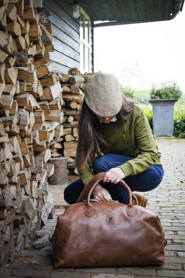 Koedoe & Co Leather Travel Bag Medium