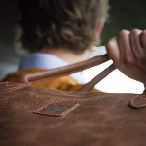 Koedoe & Co Leather Travel Bag Detail