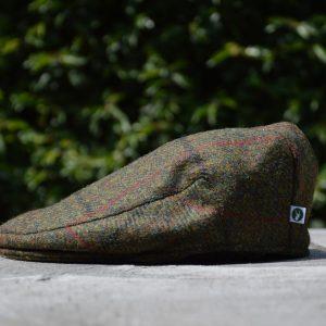 Harris Tweed Flat Cap Dark Green Koedoe & Co
