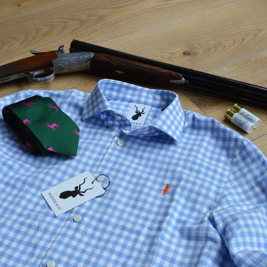 Koedoe & Co Casual hunting shirt shooting fit checkered duck hunting pheasant shooting